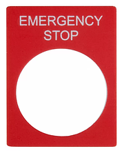 Маркувальна Табличка EMERGENCY STOP червона прямокутна для кнопок XB2