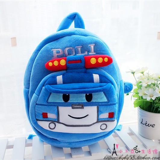 Детские дошкольные рюкзаки плюшевый 1-3 года для мальчиков Robocar Poli