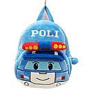Детские дошкольные рюкзаки плюшевый 1-3 года для мальчиков Robocar Poli, фото 2