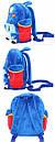 Детские дошкольные рюкзаки плюшевый 1-3 года для мальчиков Robocar Poli, фото 3