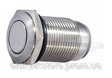 TYJ 16-211 Кнопка металлическая плоская, 1NO + 1NC.