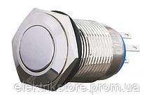TYJ 16-312 Кнопка металлическая плоская с фикс., 2NO + 2NC.