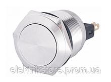 TYJ 22-211 Кнопка металлическая плоская, 1NO+1NC.