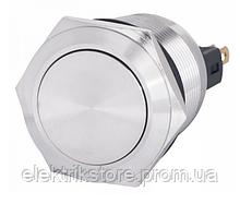 TYJ 22-311 Кнопка металлическая плоская с фикс., 1NO+1NC.