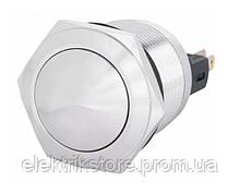 TYJ 22-331 Кнопка металлическая выпуклая с фикс., 1NO + 1NC.