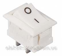 KCD1-101 White / White Переключатель 1 кл. белый