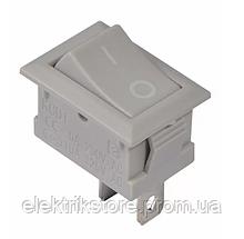 KCD1-101 Grey / Grey Переключатель 1 кл. серый