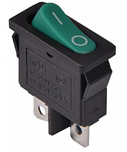 KCD1-12-101 GR/B Перемикач 1 клав. (зелена овальна клавіша)