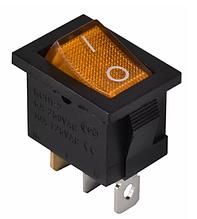 KCD1-2-101N YL / B 220V Переключатель 1 кл. желтый с подсветкой