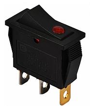 KCD3-101EN R / B 220V Переключатель 1 кл. красный с подсветкой (точечным)