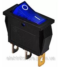 KCD3-101N BL / B 220V Переключатель 1 кл. синий с подсветкой