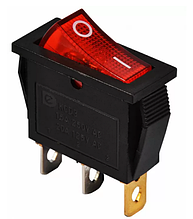 KCD3-101N R / B 220V Переключатель 1 кл. красный с подсветкой