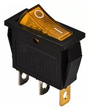 KCD3-101N 220V YL / B Переключатель 1 кл. желтый с подсветкой