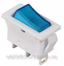 KCD3-101N-13 BL / WH 220V Переключатель 1 кл. синий с подсветкой
