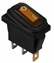 KCD3-101NW YL / B 220V Переключатель 1 кл. влагозащ. желтый с подсветкой