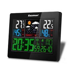 Метеостанция беспроводная домашняя цветной дисплей Excelvan