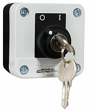 XAL-B142Н29 Пост одноместный переключатель 2-позиционный с ключом