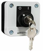 XAL-В142Н29 Пост одномісний перемикач 2-позиційний з ключем