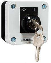 XAL-B144 Пост одномісний перемикач 2-позиційний з ключем