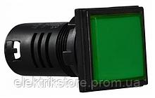 Сигнальна арматура AD22-22F зелена АС 220V