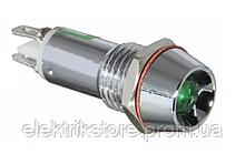 Сигнальная арматура AD22C-12  зеленая 24V AC/DC
