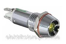 Сигнальна арматура AD22C-14 жовта 24V AC/DC