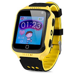 Детские смарт часы Smart Baby Watch G900A с GPS, желтые