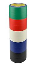 Изолента 0,13мм*19мм/10м Набор №1 (2 черные+2 синие+2к расные+2 зеленые+2 белые)