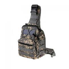 Рюкзак, сумка походная на одно плечо MHZ N02247 Pixel Green