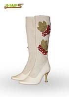 Обувь из конопли. Сапоги женские «Калина-2»