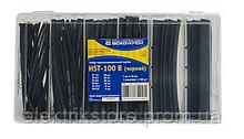 Набор термоусадочных трубок HST-100B (черные)