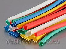 Набір т/у трубки Діаметром 1,0/0,5 жовта (10шт*10см)