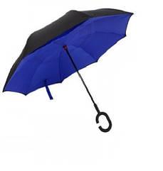Зонт обратного сложения антизонт ветрозащитный д110см 8сп MHZ WHW17133 Blue
