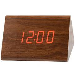 Часы дерево подсветка VST 864 Red