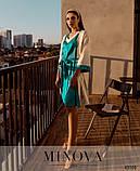 Красивый  комплект для сна женский Халат и ночная рубашка Размер 42 44 46 48 50 52 54 56 58 60 62 64 66 68, фото 5