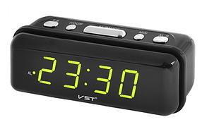 Настольные часы с зеленой подсветкой VST 738