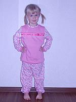 Качественная теплая детская пижама,рюша