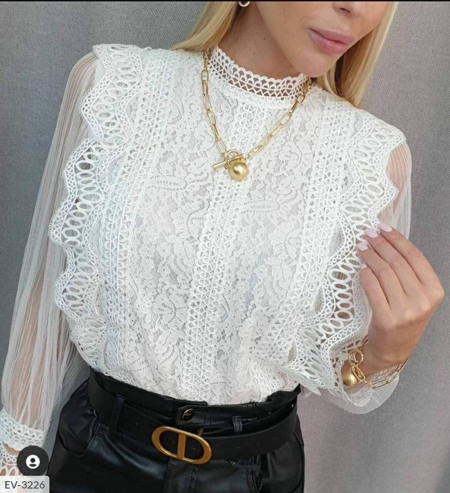 Блуза женская ажурная ен655