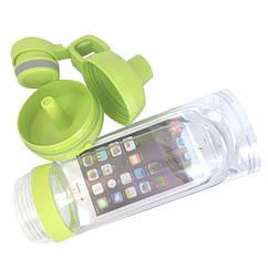 Спортивная бутылка для воды и телефона SO-KID Н-606 400 мл Green