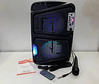 Акустическая система Bluetooth колонка чемодан KIMISO QS-6565 BT+микрофон USB FM