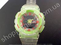 Детские часы Casio Baby G BA-111 5338 (013555) светло-бежевые с салатовым водонепроницаемые