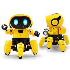 Интерактивный робот Tobi (игрушка музыкальная световая) 15х11,5 см, желтый
