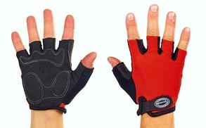 Велоперчатки с открытыми пальцами SCOYCO ВG02 красные, размер М
