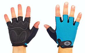 Велоперчатки с открытыми пальцами SCOYCO ВG02 синие, размер L