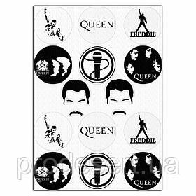 Капкейки-6 см Queen 2 вафельна картинка