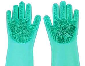 Перчатки с щеткой для уборки и мытья посуды Kitchen Gloves 5511