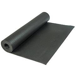 Коврик для йоги и фитнеса 4 мм R17824, черный