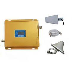 Усилитель мобильной связиGSM 3G репитер 900 МГц/1800 МГц Золотистый