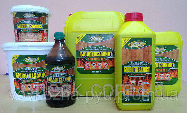 Биоогнезащита антисептик-антиперен для древесины ХМББ-3324 2 л жидкий
