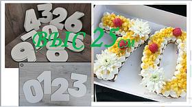 Трафарет для торта цифры